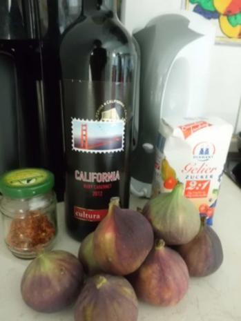 Aufstrich, süß: Feigenmarmelade mit Rotwein und Chili - Rezept - Bild Nr. 2