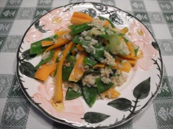 Gemüse - Pfanne mit Naturreis - Rezept