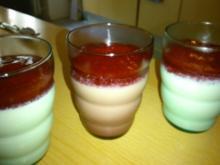 Panna Cotta mit Himbeersoße - Rezept