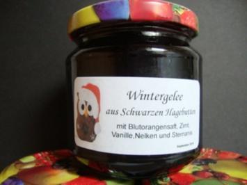 Wintergelee aus Schwarze Hagebutten mit Blutorangen, Zimt,Nelken & Sternanis - Rezept