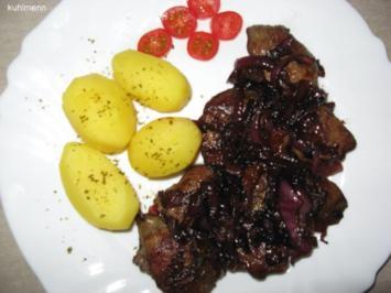 Hähnchen-Leber in Balsamico-Zwiebeln - Rezept