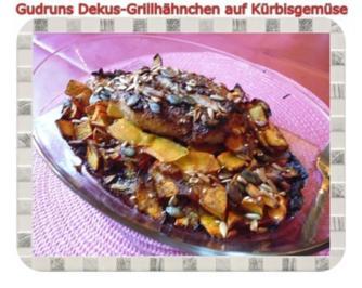 Geflügel: Dekus-Grill-Hähnchen auf Kürbisgemüse - Rezept