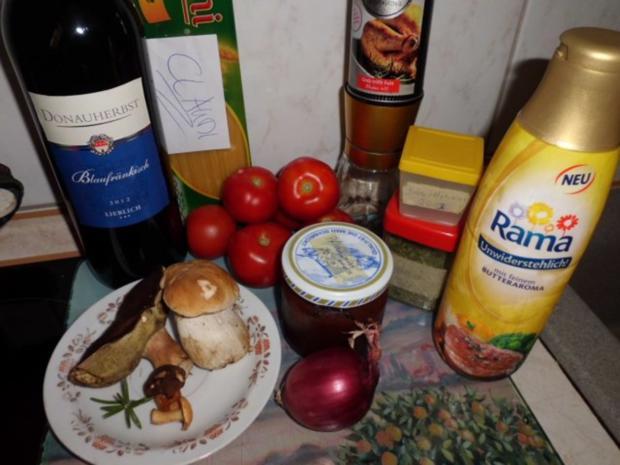 Pfannengericht: Tomaten-Pilzpfanne mit Pasta - Rezept - Bild Nr. 2