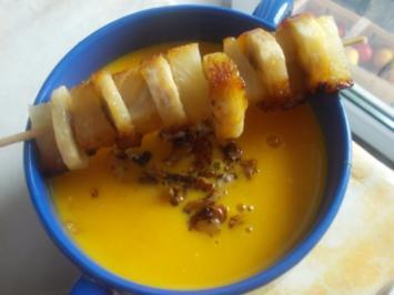Rezept: Suppe - Kürbissuppe mit Ananas
