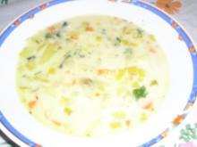 Lauch-Gemüsesuppe mit Speck - Rezept