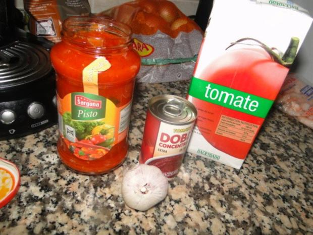 Spaghetti mit Miesmuschel und frischen Tintenfischringen und Garnelen, alles frisch, mit - Rezept - Bild Nr. 6