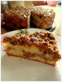 Geschichteter Walnuss-Apfel-Kuchen - Rezept