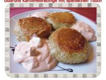 Kartoffeln: Kartoffelbratlinge mit spanischen Touch und Knobi-Dip - Rezept