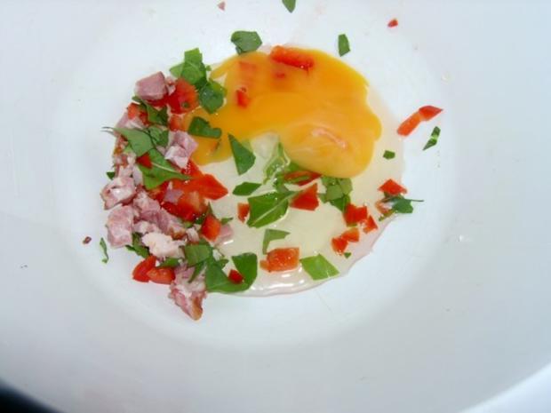 Kartoffelknödel mit Paprika und Schinken - Rezept - Bild Nr. 3