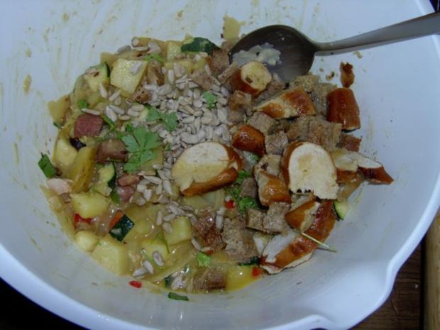 Kartoffelknödel mit Paprika und Schinken - Rezept - Bild Nr. 6