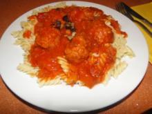 Hackfleischbällchen in  Tomatensauce gegart, hatte noch Leckere Tomatensauce übrig - Rezept