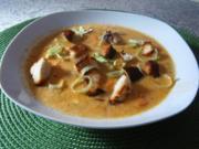 Obazda-Porree-Suppe - Rezept