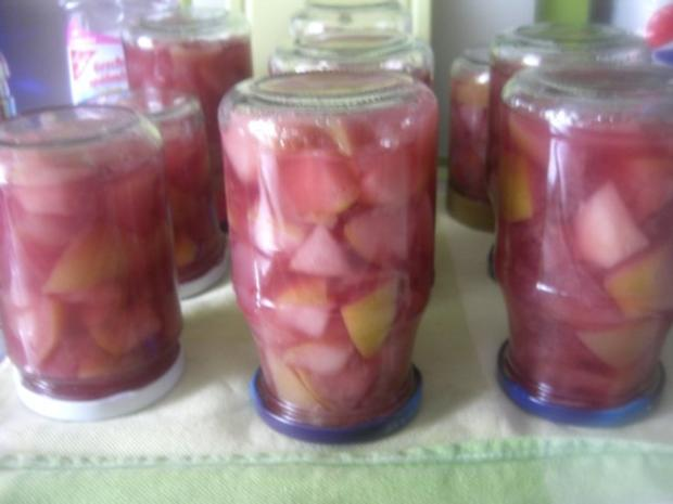 Glühwein-Apfel-Kompott - Rezept