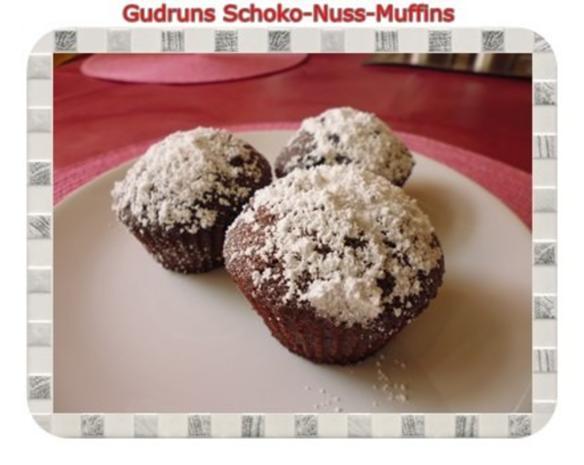muffins schoko nuss muffins rezept mit bild. Black Bedroom Furniture Sets. Home Design Ideas