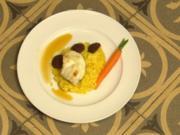 Seeteufel Sous-Vide mit Safranrisotto und Chorizo (Jan Kralitschka) - Rezept