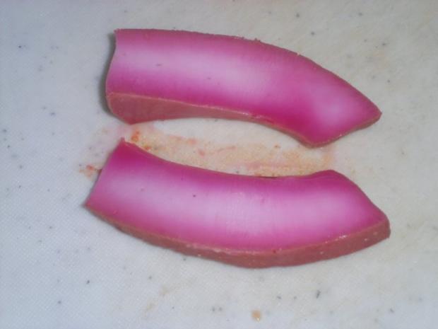 Gekochtes rotes Tintenfischfilet - Rezept - Bild Nr. 6