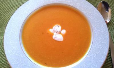 Hokkaido suppe mit schale