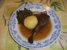 Frühmastgans mit Maronen an Grünkohl - Rezept