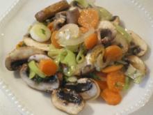 Bunte Pilz Gemüse Pfanne rein pflanzlich - Rezept