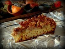 Kürbis-Birnen-Streuselkuchen vom Blech - Rezept