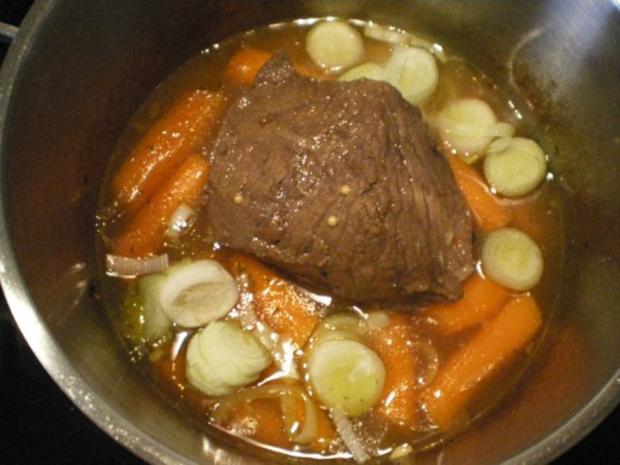 Schneller Sauerbraten mit Karotten-Lauch Soße - Rezept - Bild Nr. 4