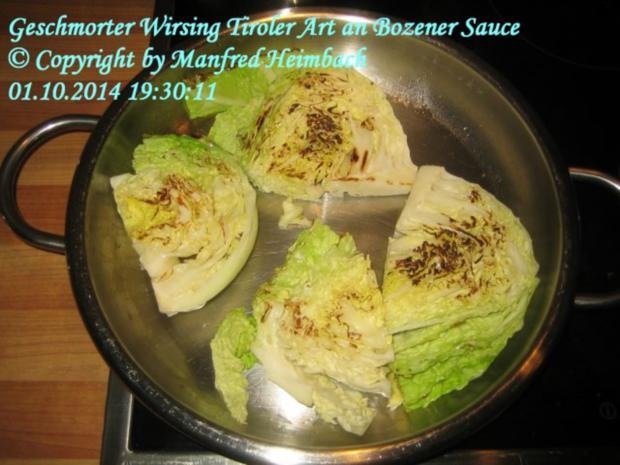 Gemüse – Geschmorter Wirsing Tiroler Art an Bozener Sauce - Rezept - Bild Nr. 4