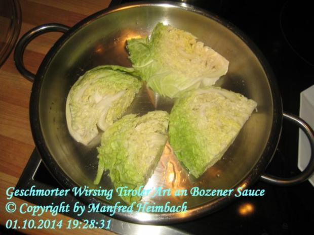 Gemüse – Geschmorter Wirsing Tiroler Art an Bozener Sauce - Rezept - Bild Nr. 5