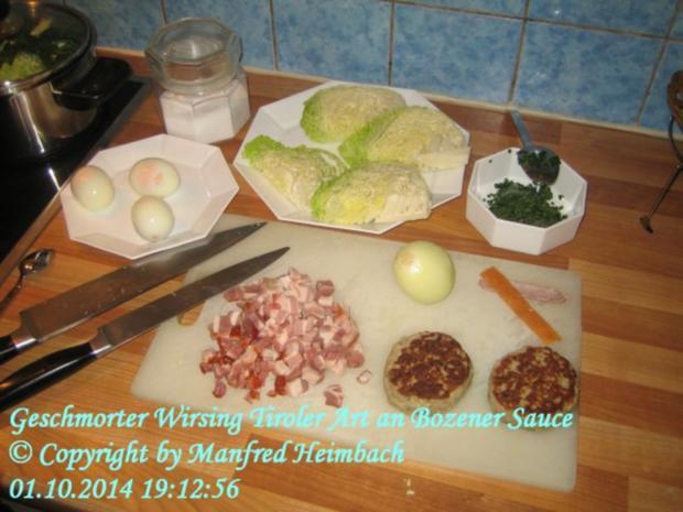 Gemüse – Geschmorter Wirsing Tiroler Art an Bozener Sauce - Rezept - Bild Nr. 6