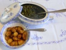 """""""Oma - Friede`s"""" Braunkohl mit kleinen gebratenen Kartoffeln (Rezpt um 1948) - Rezept"""