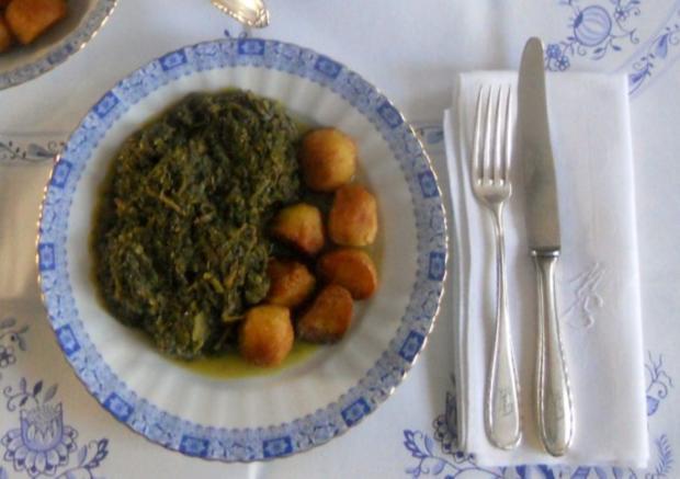 """""""Oma - Friede`s"""" Braunkohl mit kleinen gebratenen Kartoffeln (Rezpt um 1948) - Rezept - Bild Nr. 18"""