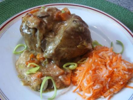 Backkartoffeln mit Rahmsoße - Rezept