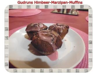 Muffins: Himbeer-Marzipan-Muffins - Rezept