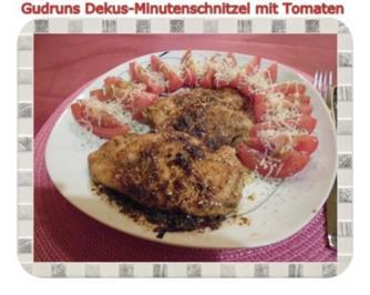 Geflügel: Dekus-Minutenschnitzel mit Tomaten - Rezept