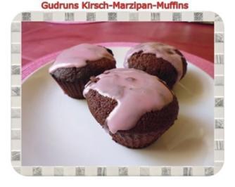 Muffins: Kirsch-Marzipan-Muffins - Rezept