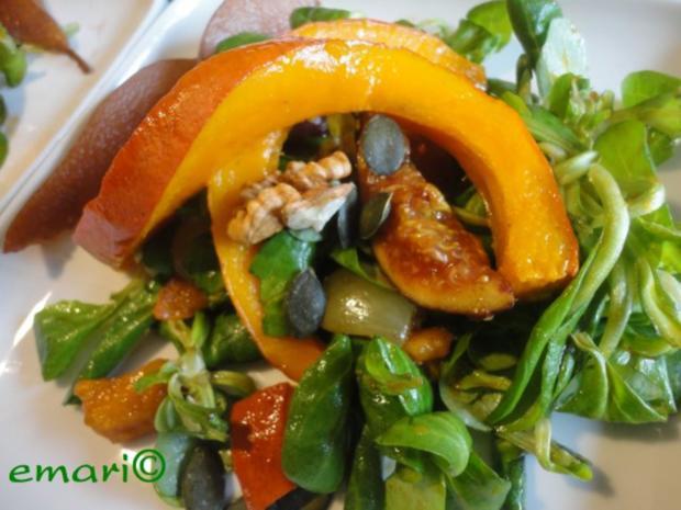 eleganter Herbst Salat mit Kürbis - Rezept - Bild Nr. 13