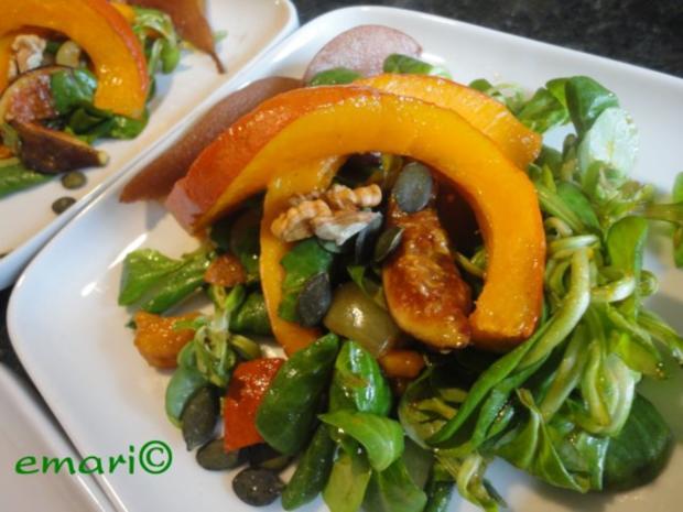 eleganter Herbst Salat mit Kürbis - Rezept - Bild Nr. 14