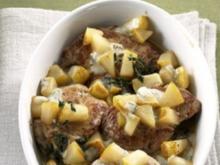Fleisch: Schweinemedaillons mit Birne und Gorgonzola - Rezept