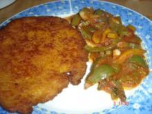 Schnitzel mit Paprikagemüse - Rezept