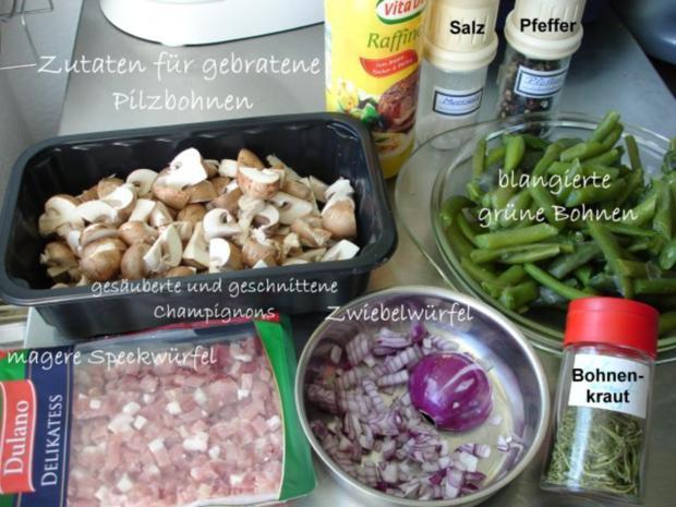 Gebratene Pilzbohnen - Rezept - Bild Nr. 2