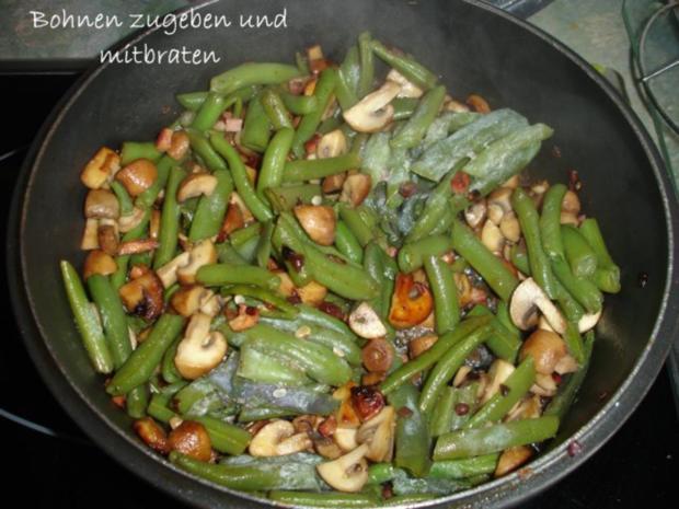 Gebratene Pilzbohnen - Rezept - Bild Nr. 6