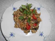 Gebratener Reis mit Rinderfilet - Rezept
