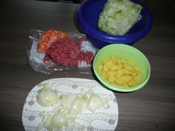 Rinderhack - Lauch -Suppe ! - Rezept