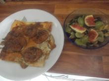 Vegetarisch - Birnen-Feigen-*Kuchen* mit Gorgonzola - Rezept