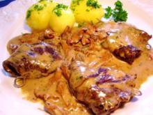 Rindfleisch-Päckchen mit pikanter Füllung ... - Rezept