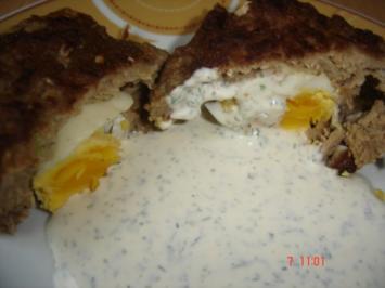 Schottische Eier mit Kräuterdip - Rezept