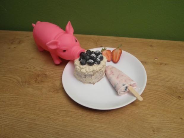 Lavendelküchlein und Frozen Joghurt am Stiel - Rezept