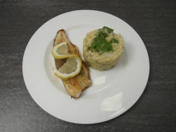 Filet vom Bodenseesaibling an Spargelrisotto - Rezept