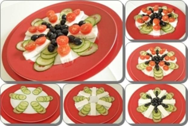 Schafskäse Salat nappiert mit leckerem Lavendel Dressing - Rezept - Bild Nr. 3
