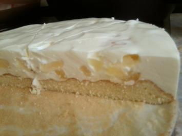 leichte Frischkäse Torte mit Früchten - Rezept