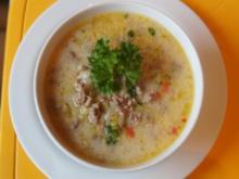 Rinderhack-Käse-Suppe asiatisch - Rezept